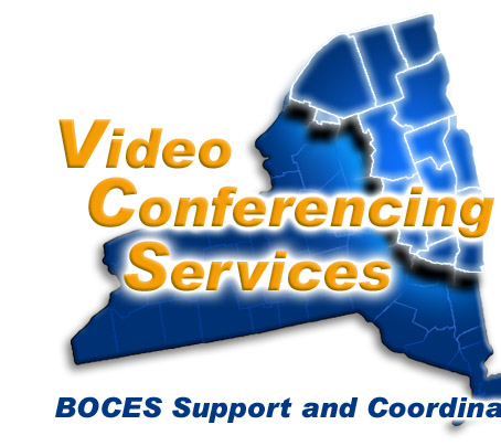 The Northeastern Regional Information Center's Video Conferencing Services Logo Highlighting the 17 Counties in Northeastern New York State where NERIC provides BOCES (Boards Of Cooperative Educational Services) Support and Coordination - Link to Site Index
